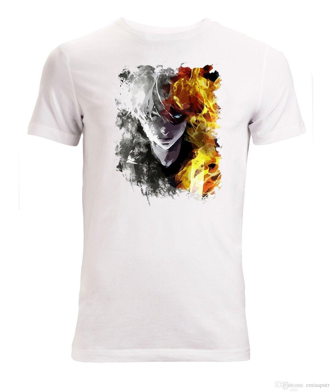 a81b55320ff My Hero Academia Shoto Todoroki Painted Art Men S White T Shirt Sizes S XXL  Vintage T Shirts Band T Shirts From Emisaputr