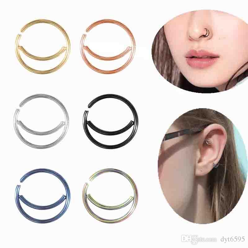 New Arrival oneness buckle stainless steel oneness buckle moon nose ring nose buckle earrings pierced earrings small ears ornaments