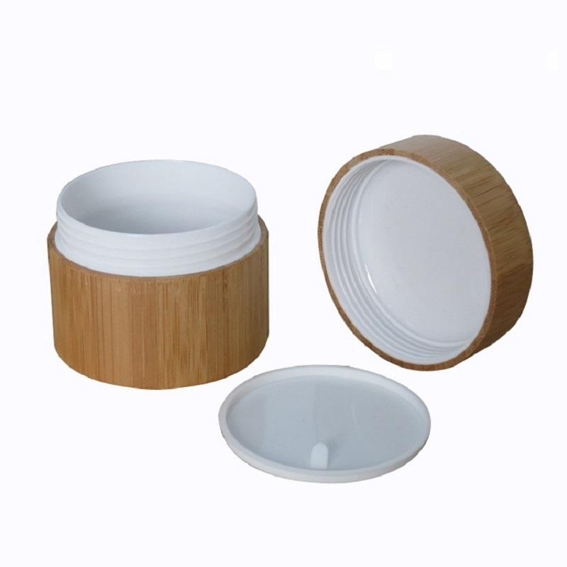 Bamboo Cream Jar PP Plastic Container 10G 20G 30G 50G Empty Refillable Bottle Cosmetic Packaging Pot Bamboo Wooden Jar (5)