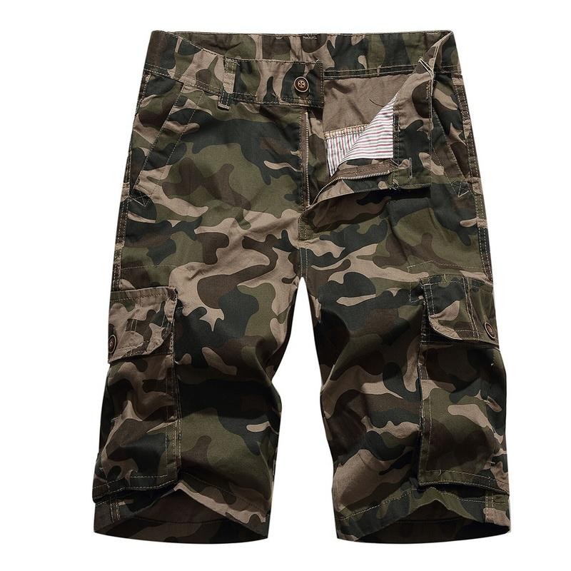 e265322f5d SHUJI Brands Men's Loose Fit Twill Cargo Shorts Cotton Multi-Pocket  Lightweight Outdoor Camouflage Shorts Boyfriend Style