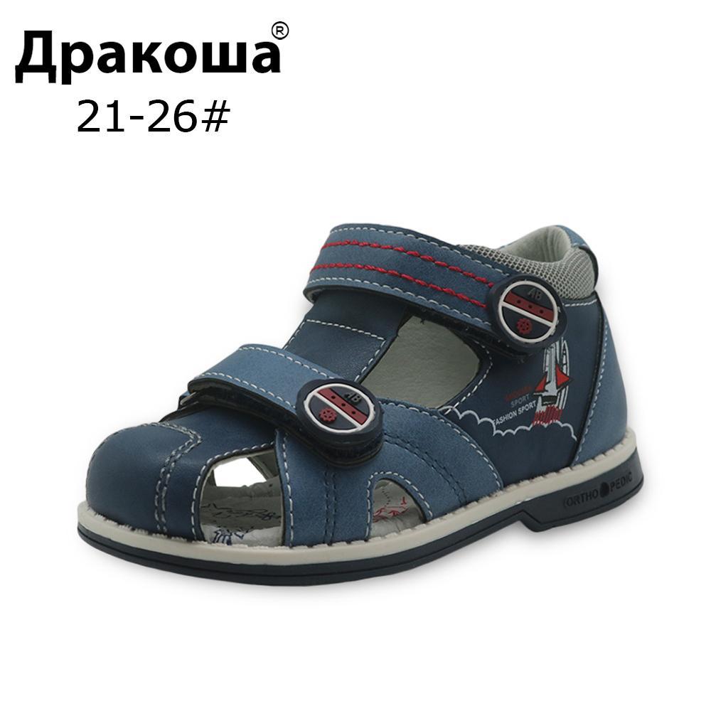 9ce0e79815 Apakowa New Summer Kids Shoes Brand Closed Toe Toddler Boys Sandals ...