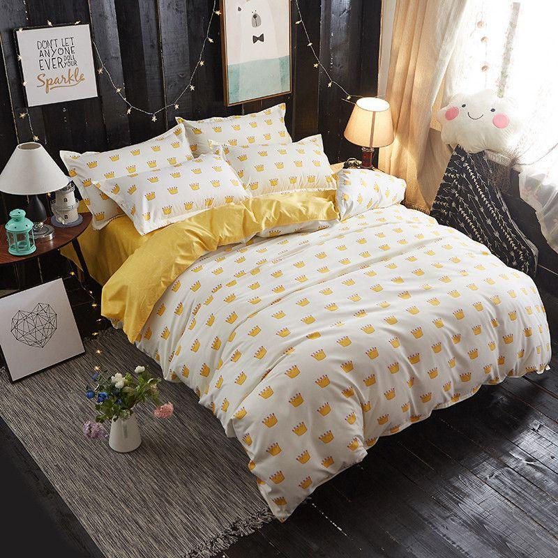 Großhandel Kaiserkrone Bedruckte Bettwäsche Bettbezug Set Queen Size