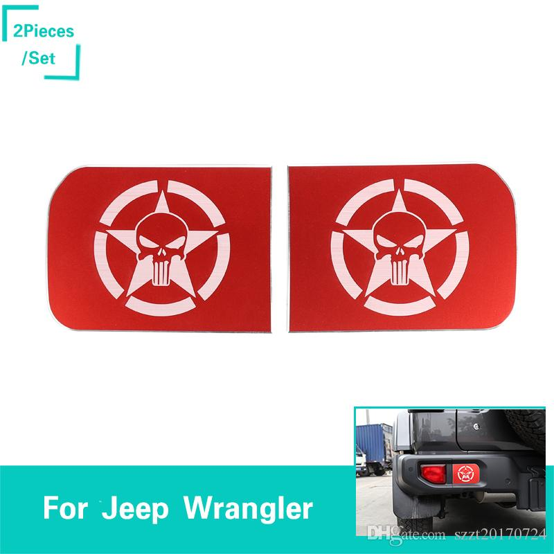 Quality Auto Parts >> Rear Bumper Decoration Bows Red Skull For Jeep Wrangler Jl 2018