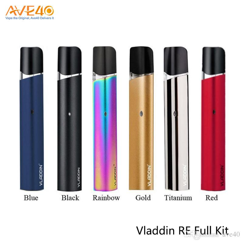 Vladdin RE Full Pod Systerm Kit With 1.5ml Capacity Refillable Open Pod 12W Output Wattage Pen Designed E-cigarette Pod 100% Original