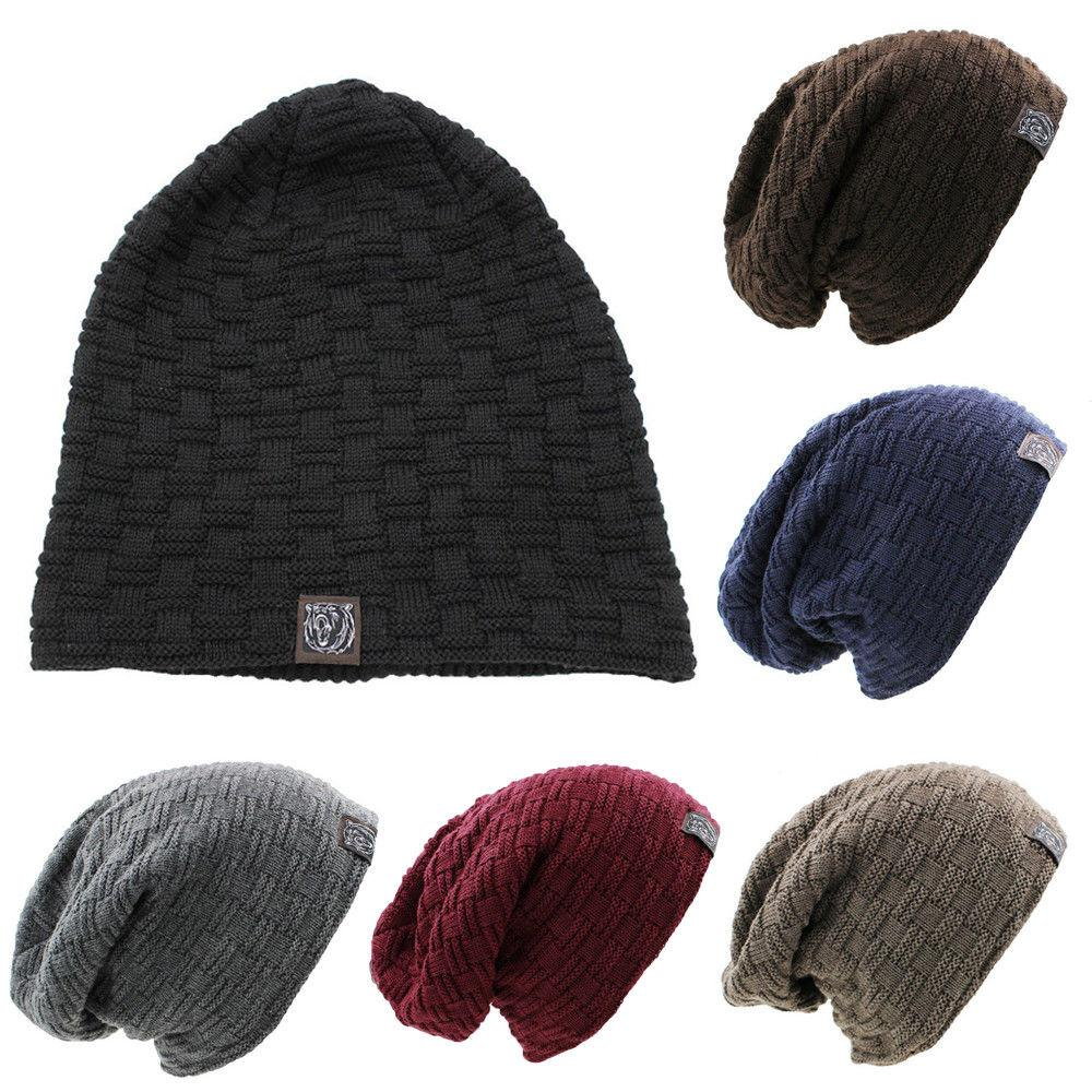 0f7ba1b58ad01 2019 Unisex Women Men Knitted Winter Oversized Slouch Beanie Hat Cap  Skateboard Warm From Bingquanwat
