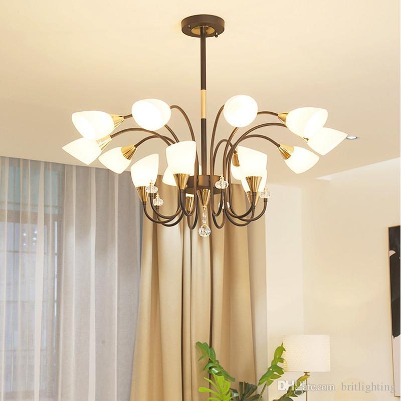 Soggiorno moderno lampadario a led Illuminazione semplice lampadari in  ferro battuto al coperto Lampada da camera creativa ristorante oro lampada  a ...