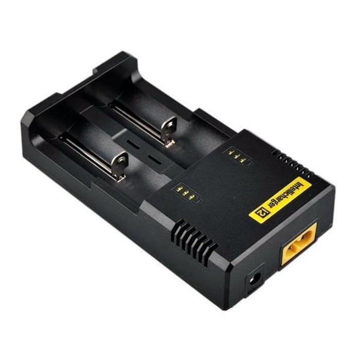 Original Nitecore I2 universal Intellicharger Charger para e cigs cigarro 18650 14500 16340 26650 bateria multi função