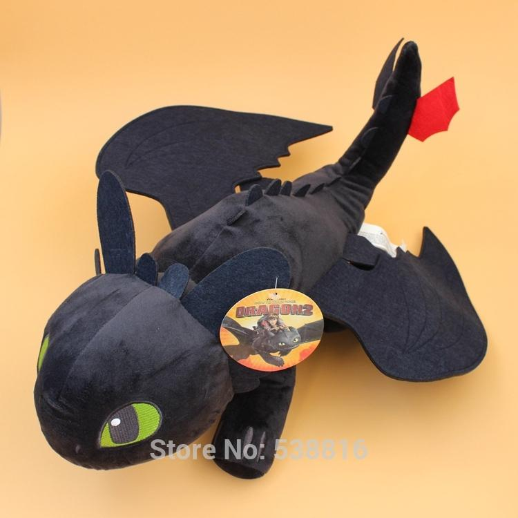 "stuffed animal 10"" 20\"" How to Train Your Dragon Black Dragon Toothless Night Fury Plush Toy Soft Stuffed Animal Dolls"