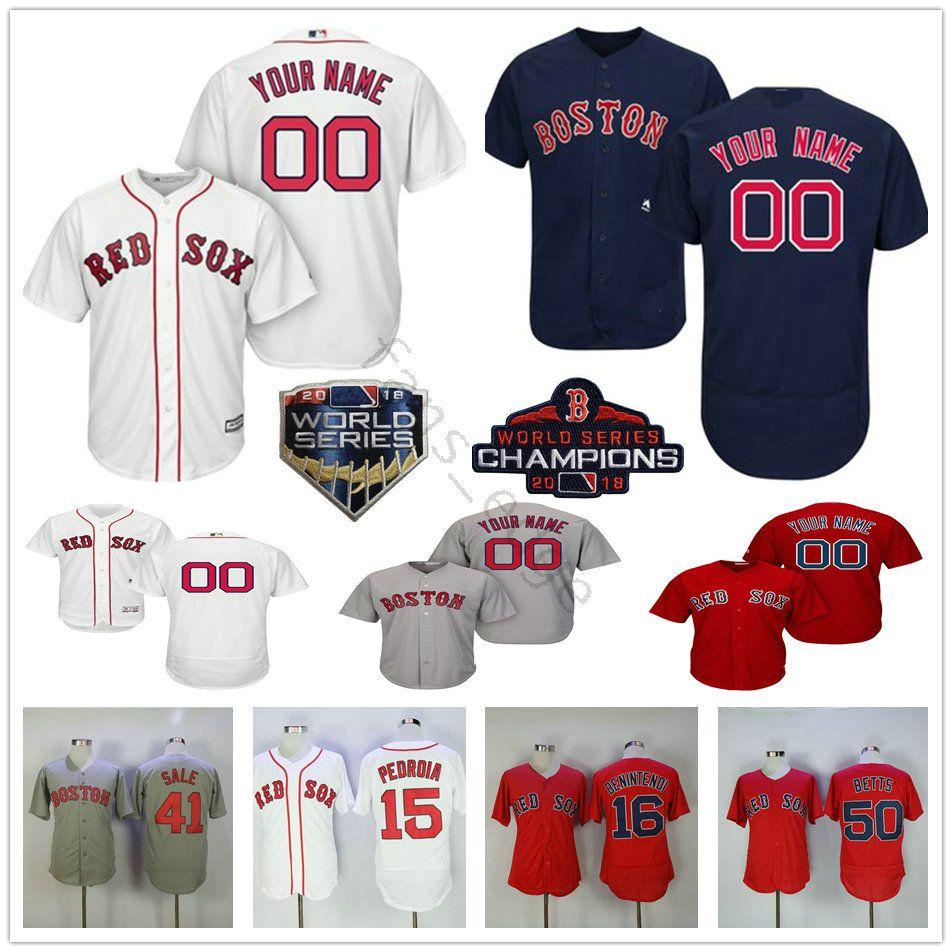a25f4eb0652 2019 Custom Boston Red Sox  41 Chris Sale 34 David Ortiz 10 David Price 15  Dustin Pedroia Men Women Kids Youth Baseball Jerseys From Fans edge