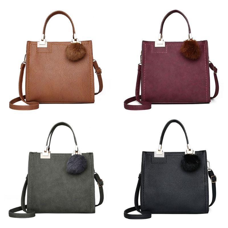 NoEnName_Null High Quality Women Leather Handbag Shoulder Bag Ladies Purse Tote Messenger Satchel Crossbody Top Handle Bags