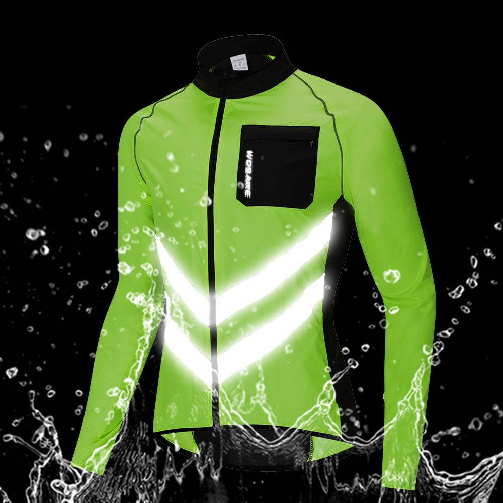 26e849782 WOSAWE Autumn Running Jackets Men Reflective High Visibility Sportswear  Outer Clothing Water Repellent Cycling Sports Coat M-3XL