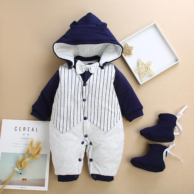 ddaad65ced19b good quality Baby Rompers Newborn Baby Boys Girls Winter Rompers Jumpsuit  Clothes Toddler Infant Hooded Cartoon Thick Warm Outfits