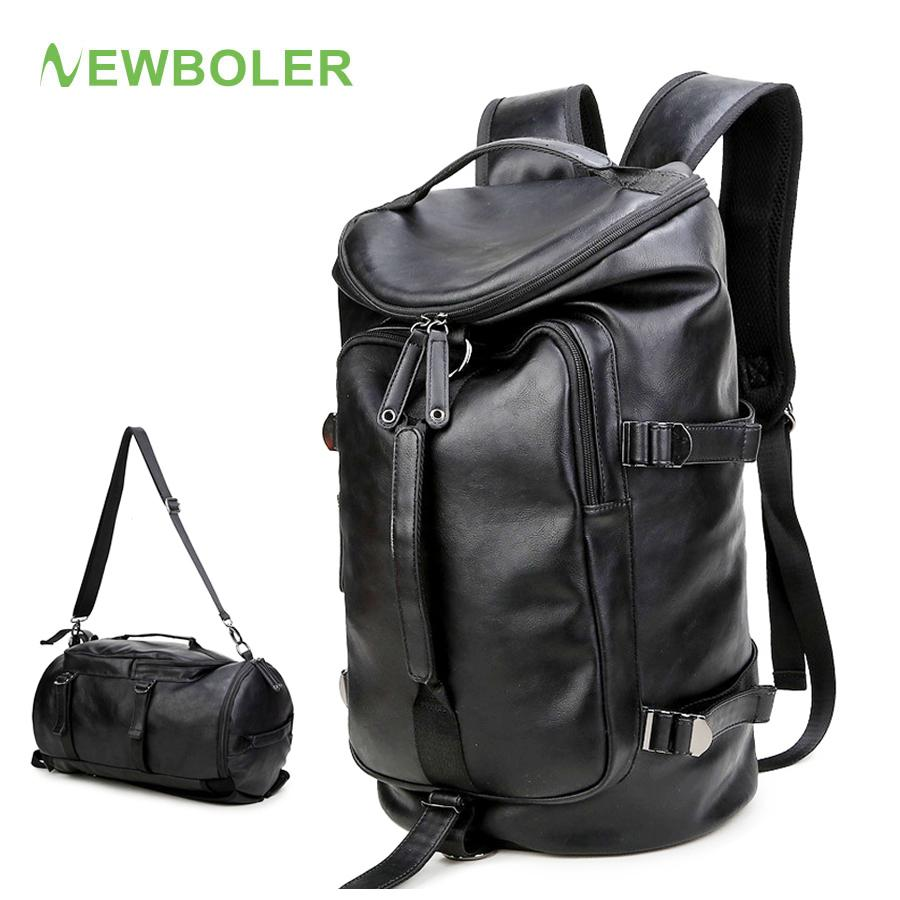 6cca55909f47 NEWBOLER Gym Bag Leather Sac De Sport Backpack For Men Fitness Training  Travel Camping Waterproof Shoulder Sports Duffel Bag UK 2019 From Shinysun