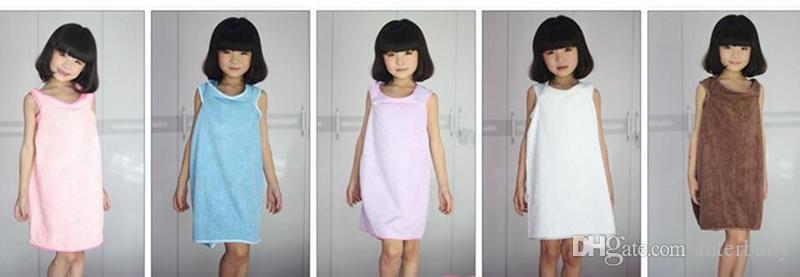 Serviette de Bain Magique Lady Filles SPA Serviette de Douche Adulte Enfants Body Wrap Peignoir De Bain Peignoir Robe De Plage Wearable Magic Towel 9 Couleur YL980
