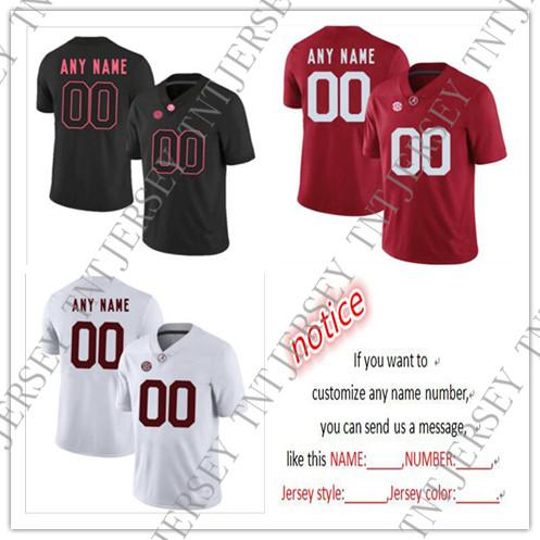 detailed look ceb53 22a39 Cheap custom Alabama Crimson Tide Men's College football jersey Customized  Jersey Any name number Stitched Jersey XS-5XL