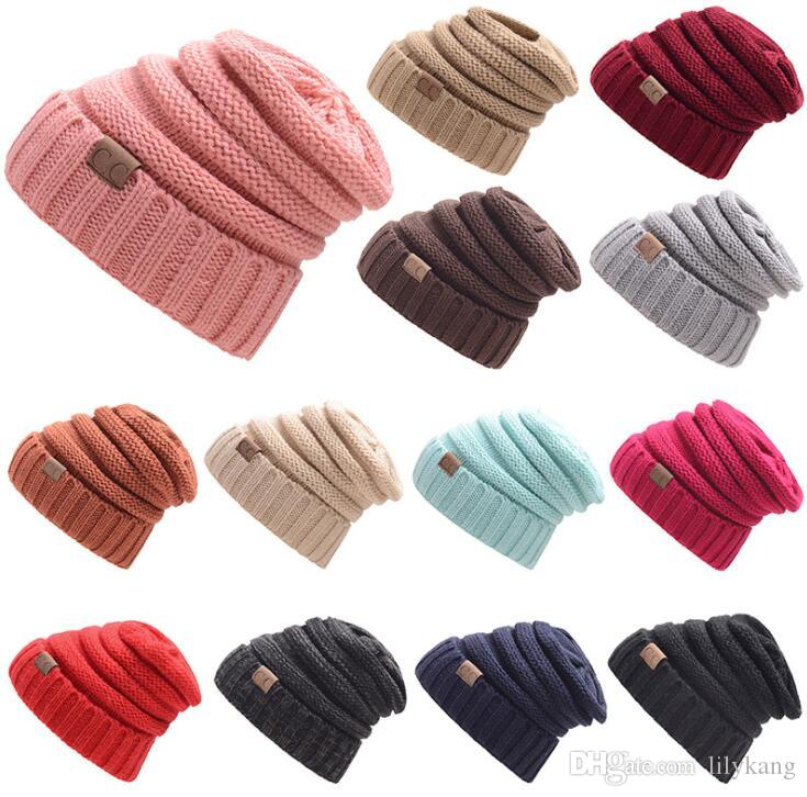 e33b49d473d Winter Warm Knit Beanie Hat for Women Girls Crochet Wool Sports Hat ...
