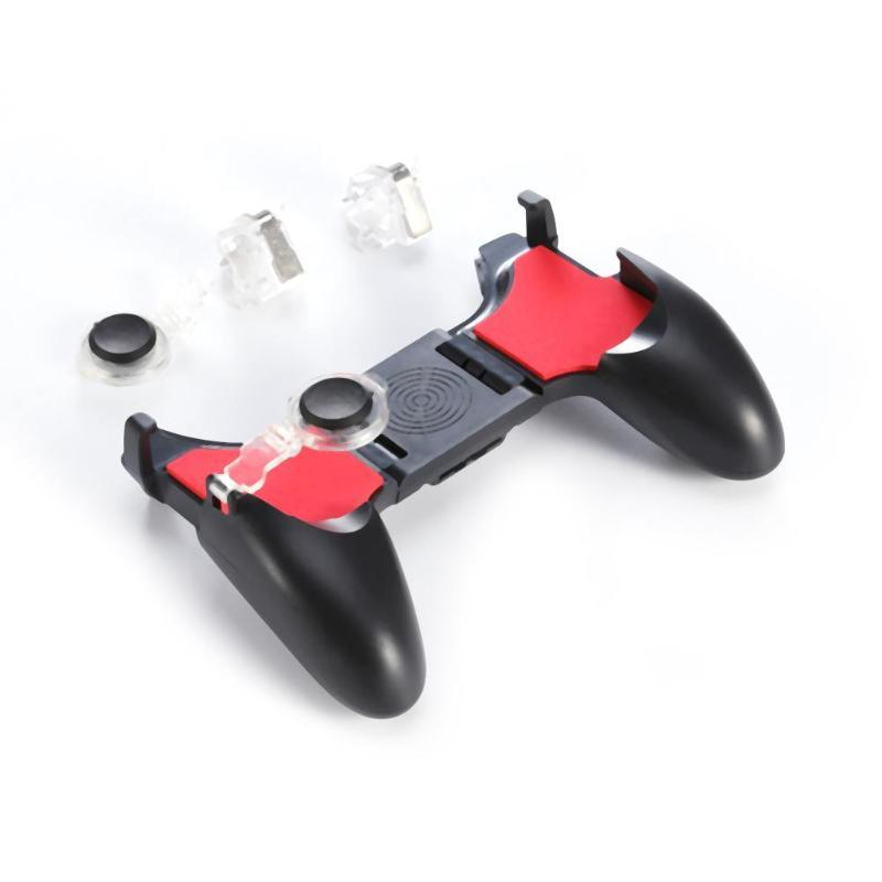 5 en 1 PUBG Moible Controller Gamepad Free Fire L1 R1 Disparadores PUGB Mobile Game Pad Grip L1R1 Joystick para iPhone Teléfono Android