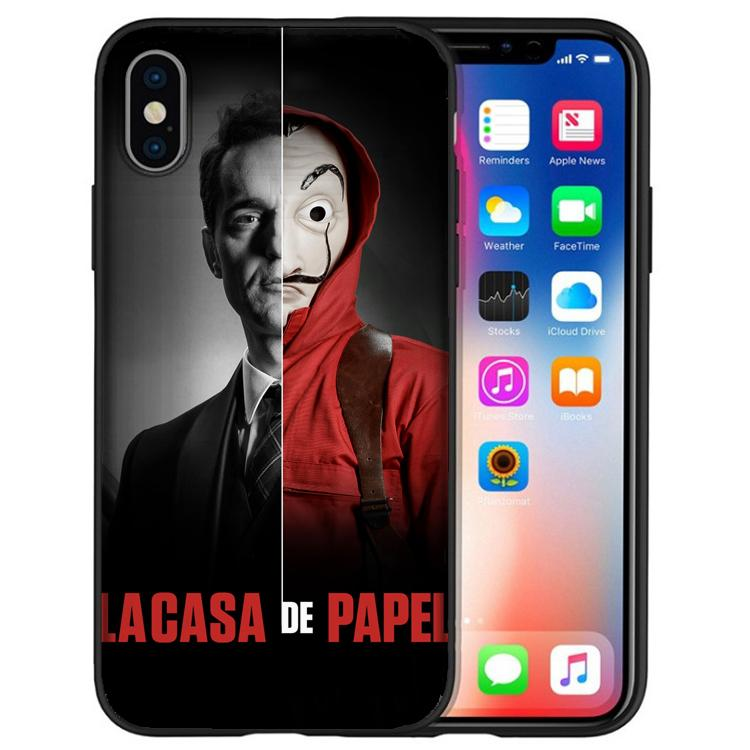 9423bd1067b Fundas Para El Celular Funda Papel Money Heist Fundas Para Teléfono Para  IPhone XS Max XR X 7 8 6S 6 Plus 5S 5 SE Para IPod Touch 6 5 Negro Funda ...