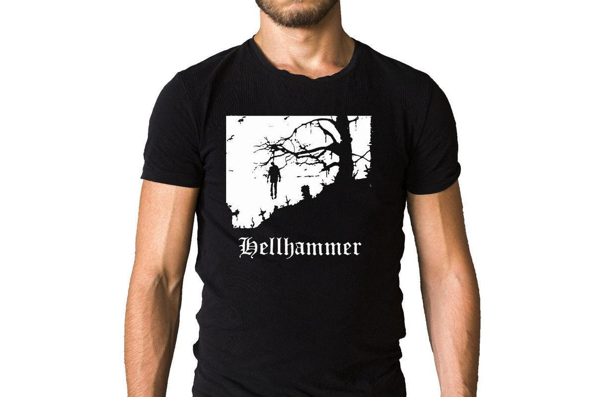 Großhandel Hellhammer Triumph Of Death 1983 Album Cover T Shirt 2018