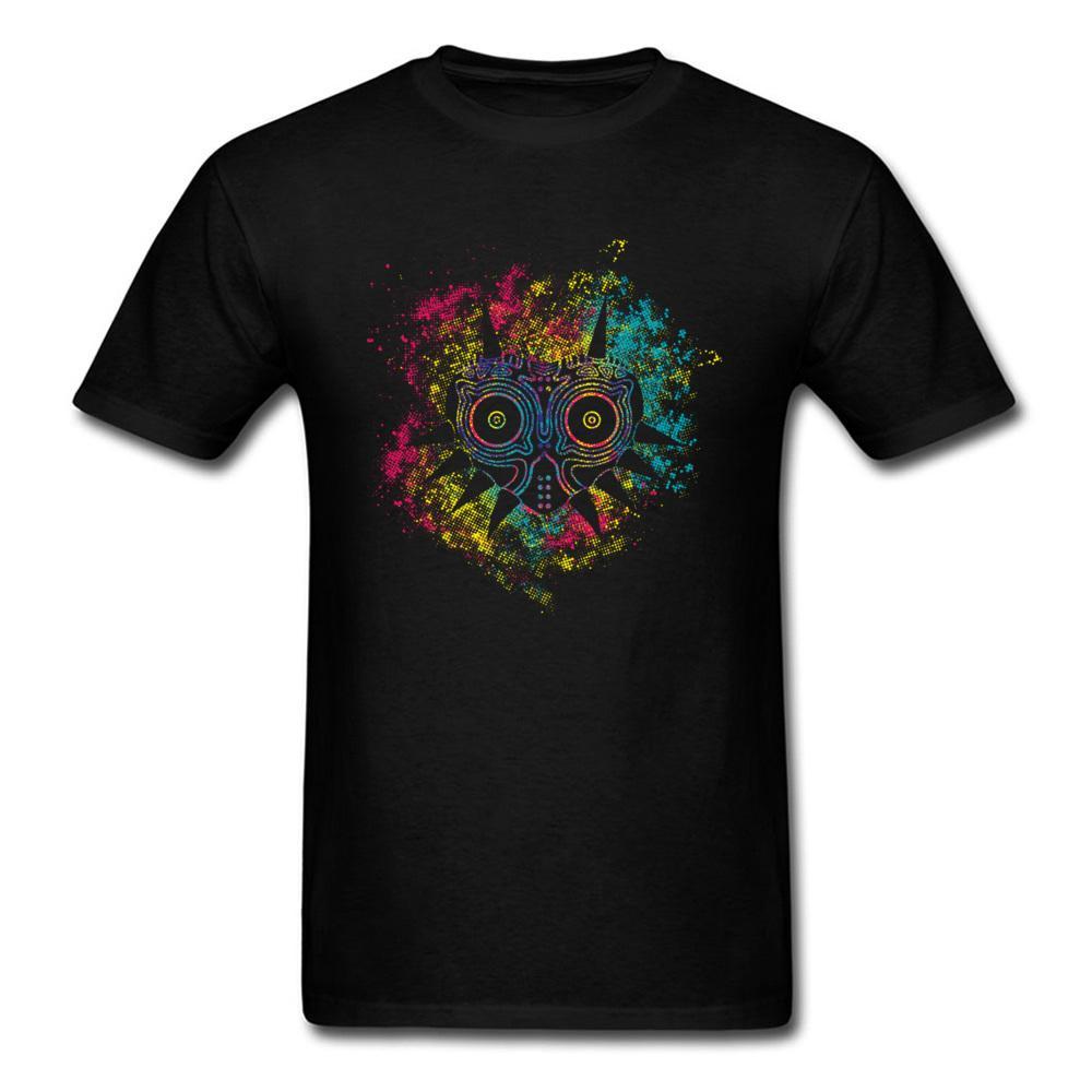baff4908b3 Majoras Mask Legend Of Zelda Gg T Shirt For Men T Shirts 2019 Summer Mens  Watercolor Anime Clothes Fashion Black Print Shirt Long Sleeve Tee Shirts  From ...