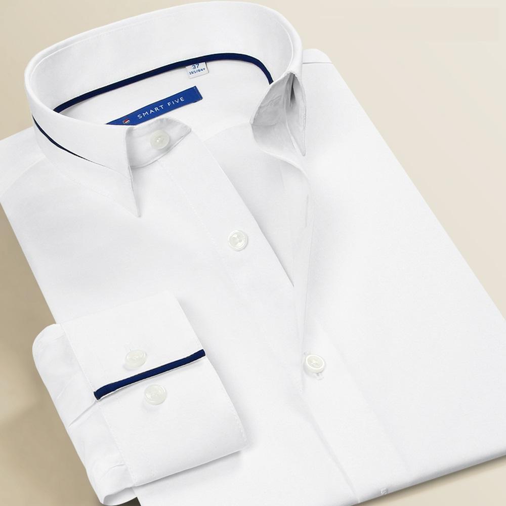 detailed pictures ebe7c 14b17 Smart Five Langarm Hemden Männer Slim Fit Camisa Masculina Modis Formale  Geschäfts Party Weiß Herrenhemd Plus Größe 6XL