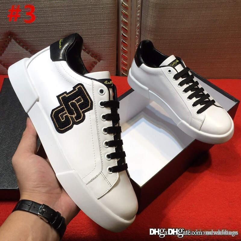 d9f28d9e11b4 High Quality DOLCE   GABBANA New Man Shoes Sneakers Leather D.G Sneakers  Running Shoes With Original Box Size 38 44 Pumps Shoes Slippers For Men  From ...