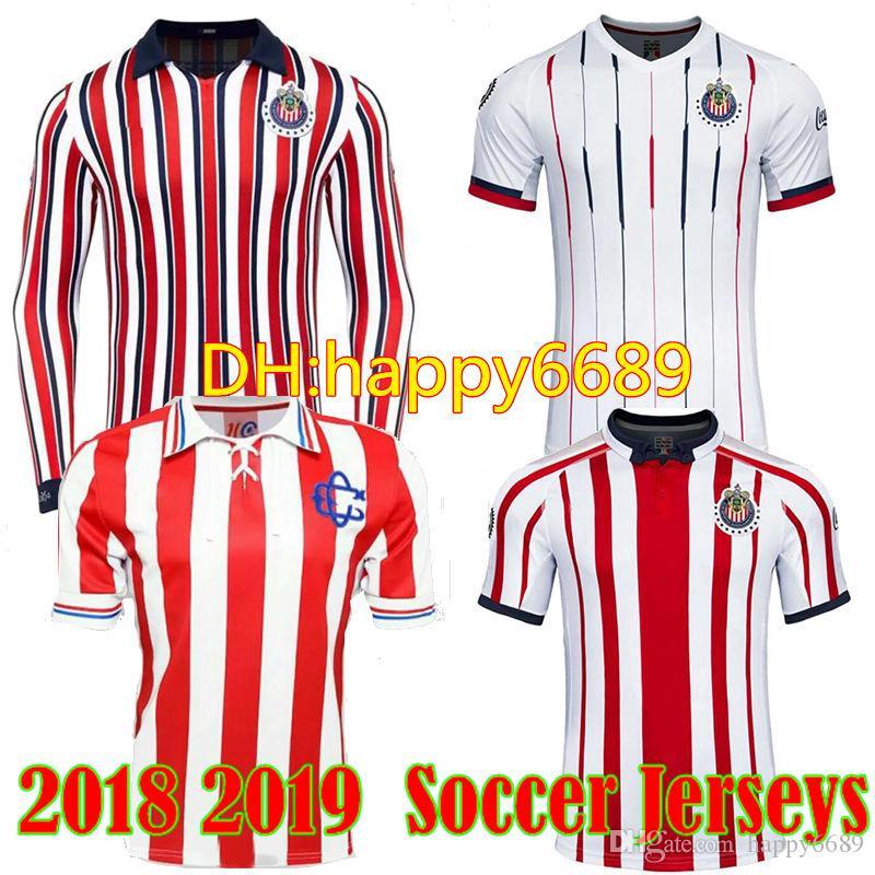 d07d7b838d7 2019 2018 2019 CHIVAS DE GUADALAJARA Jersey 18 19 Home Away A.PULIDO 9 VAN  RANKIN 2 Long Sleeve Adult Football Soccer Jersey Shirts From Happy6689