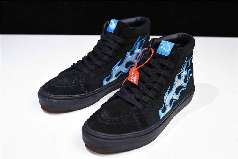b3ddf406c4 NO.1Vans Vault X WTAPS OG SK8 HI LX BLUE Flames Sk8 OG UA Hi LX V003T0UA3  Shoe Sneakers With Box Boat Shoes For Men Navy Shoes From Ziyong10