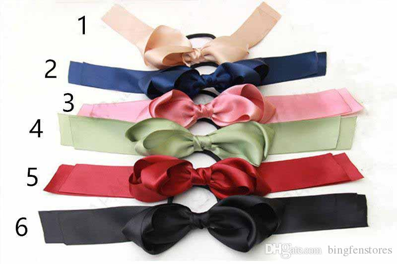 6 Color fashion summer Ponytail Scarf Elastic Hair Rope for Women Hair Bow Ties Scrunchies Hair Bands Flower Print Ribbon Hairbands