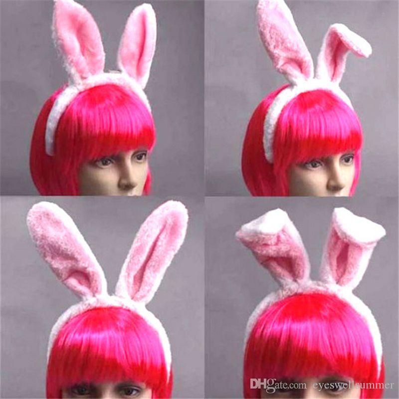 Women Girls Rabbit Headwear Bunny Ears Dressed Props Headbands ... 5e12979ecf87