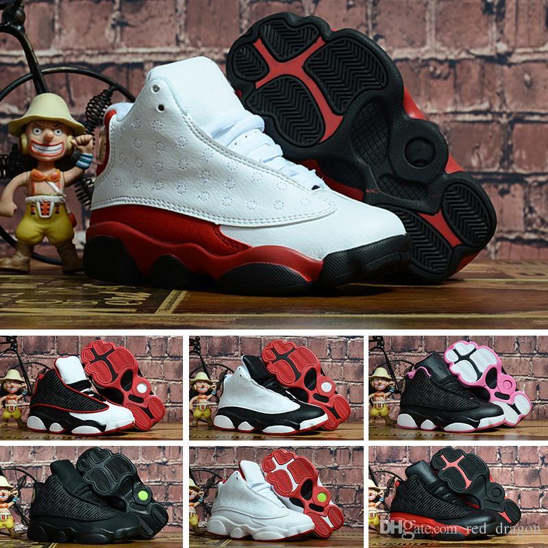 detailed look 3d367 45472 Großhandel Nike Air Jordan 13 Retro Weiße Rote Mütze Und Kleid Gym Rot  Schwarz Stingray OVO Mitternachtsmarine Gezüchtete Schuhe 13s Mens Womens  Kinder ...