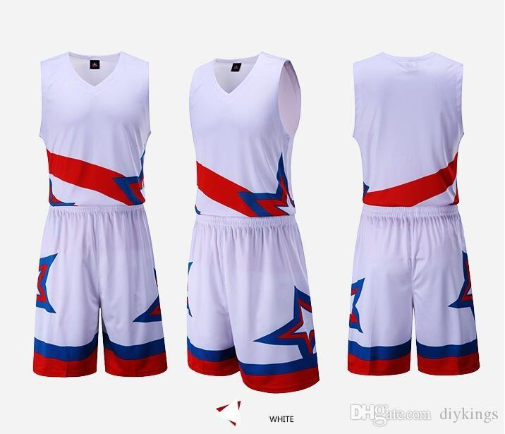 3fa73c97a7cb 2019 Hot Selling Blank Quick Drying Basketball Jersey Suit Customization  Basketball Team Uniform Customization Basketball Training Set Competitio  From ...