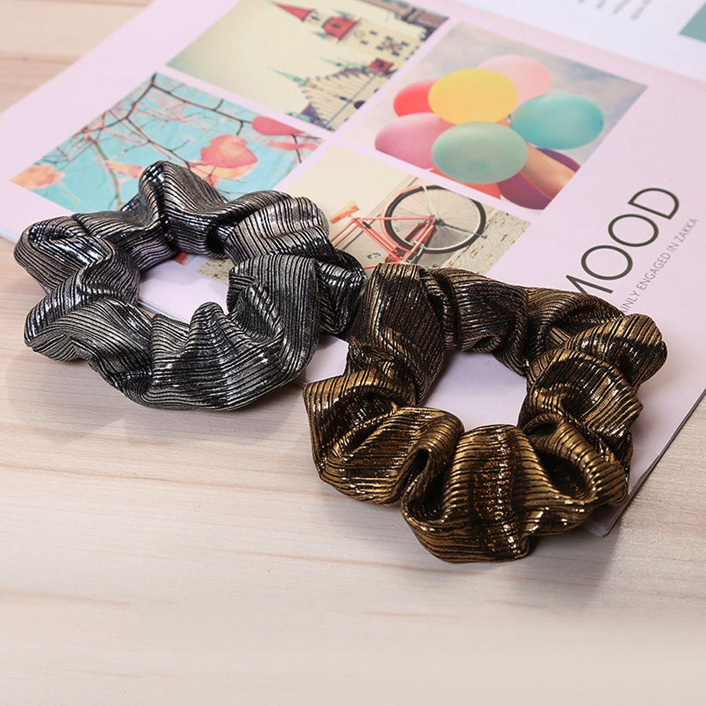 PU Faux Leather Elastic Hair Ties Black Gold Scrunchies Women Vintage Hair  Bands Ropes Fabric Ponytail Holder Accessories Hair Decoration Decorative  Hair ... 78266fe112d