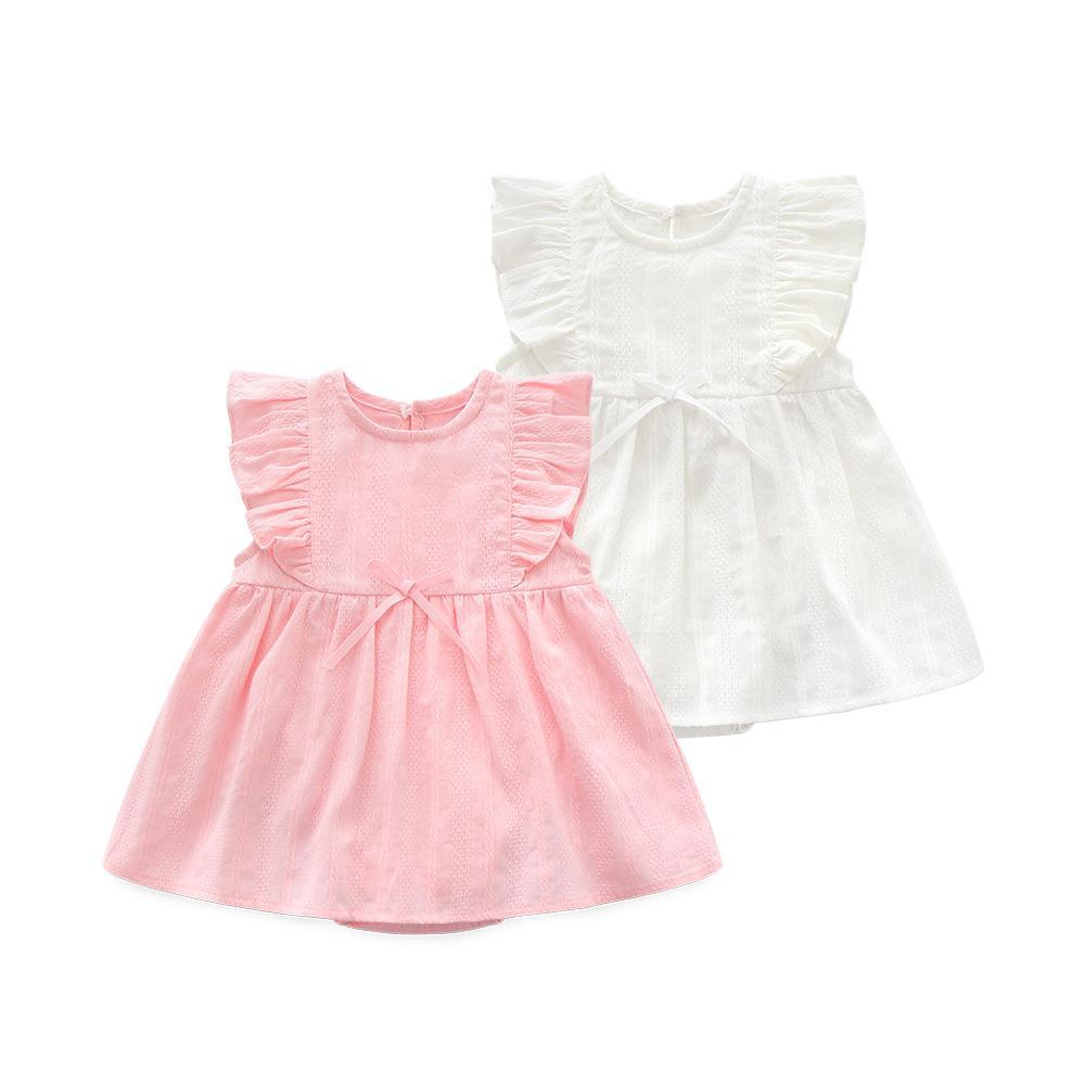 e5288455e Compre Conjunto De Ropa De Verano Para Bebé Niña Ropa De Bebé Traje De  Algodón Recién Nacido Regalo 0 3 6 Meses Vestido De Bautismo 2019 A $35.25  Del ...