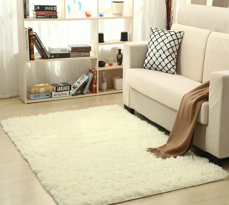 Tappeto Super Soft Silk Wool Tappeto moderno Indoor Shag Area Tappeti  setosa Tappeto camera da letto Tappetino per bambini Tappeto per bambini