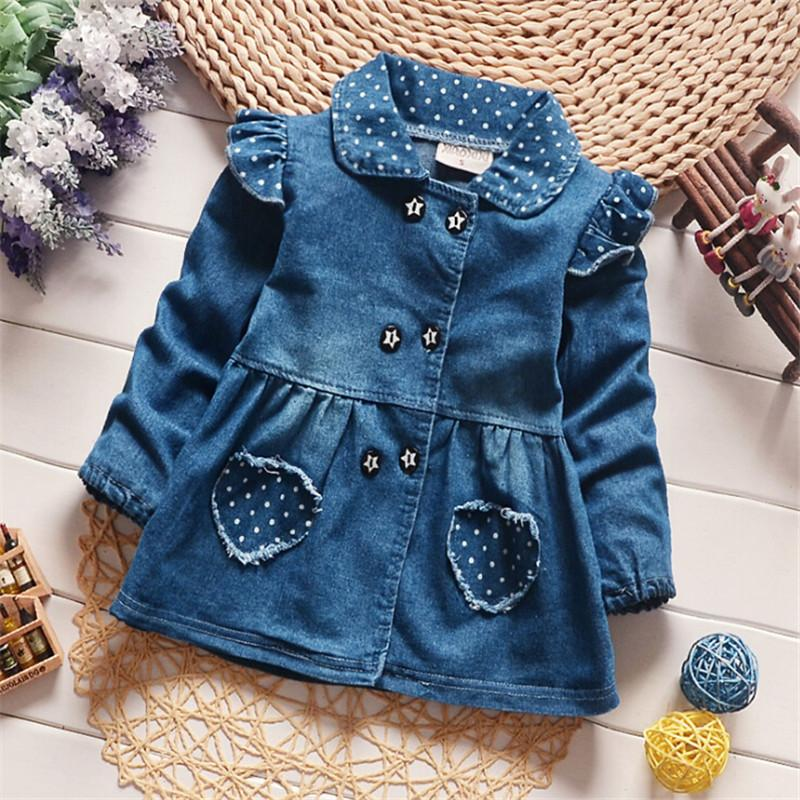 0b9b90dbffa7 Quality New 2017 Autumn Children Wear Coat Baby Girls Denim Jacket ...