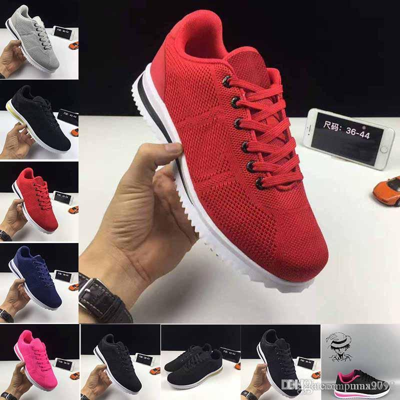 184c9823dd0e Best Selling Cheap 2018 Classic Shoes 5.0 Cortez Basic Leather Casual Shoes  Zoom Fly S Men Women Black White Red Golden Sneakers Size 36 45 Mens Shoes  ...
