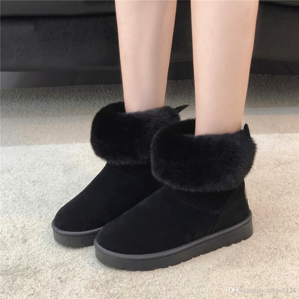 3fc7aaab9f95 2019 New Designer Shoes OGC Australia Women Indoor Slippers Real Leather  Winter Warm Home Shoes Luxury Brand Women Boots Size 36 40 Combat Boots  Rain Boots ...