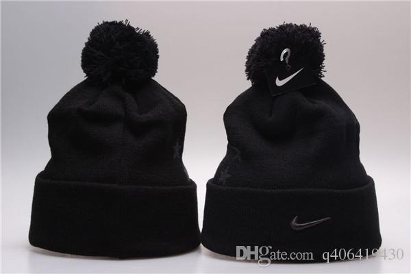 38c0bae5d63aaa New Stamping Winter Hats for Men Women Knit Pom Poms Hat Cap Brand ...