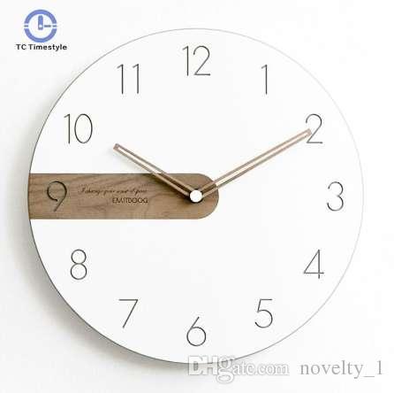 66c0d071b66 Acheter Horloge Murale Design Moderne Salon Décoration Murale Montres Décor  À La Maison Simple Face Aiguille Aiguilles À Quartz Horloges Pour La Maison  De ...