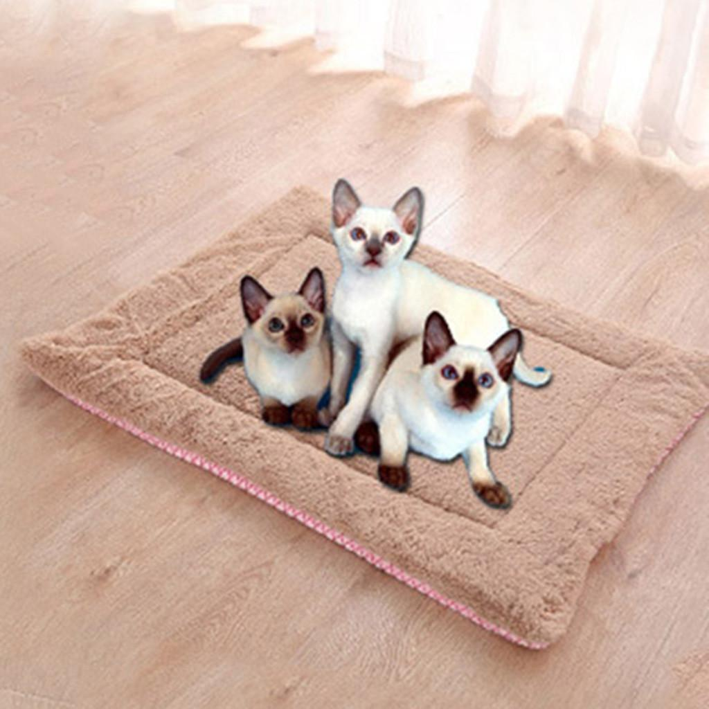 Pet Dog Cat Bed Puppy Cushion House Pet Soft Warm Mat Manta Suministros Sleeping Bed Cover Mat Para Small Medium Dog Cat