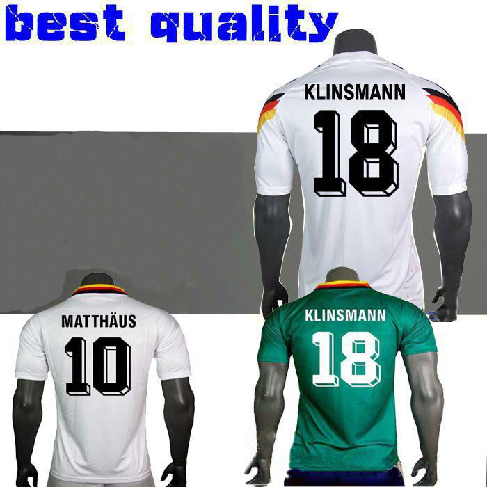3b90afa2f 1990 1994 1988 Germany Retro Version VINTAGE CLASSIC Soccer Jersey ...