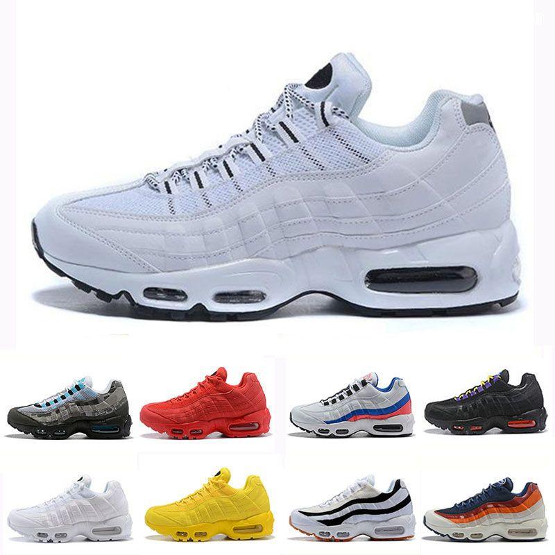 nouveau style d09c4 87424 Nike Air Max 95 2019 Original Hommes Chaussures De Course Chaussure Homme  Sport Baskets Marron Noir Blanc Designer Baskets Zapatos ShopPobs