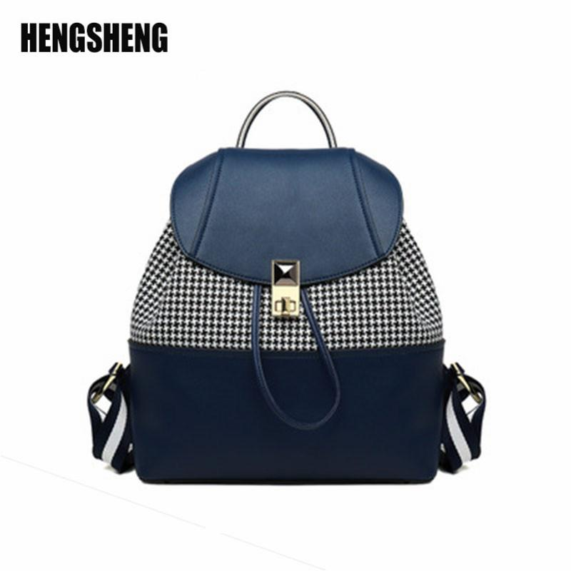 49e951d193b HENGSHENG Backpack Women 2018 Backpacks For Teenage Girls Small Backpack  Leather Stitching Women S Mini Backages Fashion Bag Gregory Backpacks Army  Backpack ...