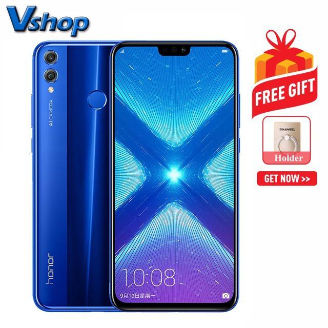 Huawei Honor 8X 4GB+64GB China Version Dual AI Back Cameras Fingerprint  Identification 6 5 inch EMUI 8 2 (Android 8 1) Hisilicon Kirin