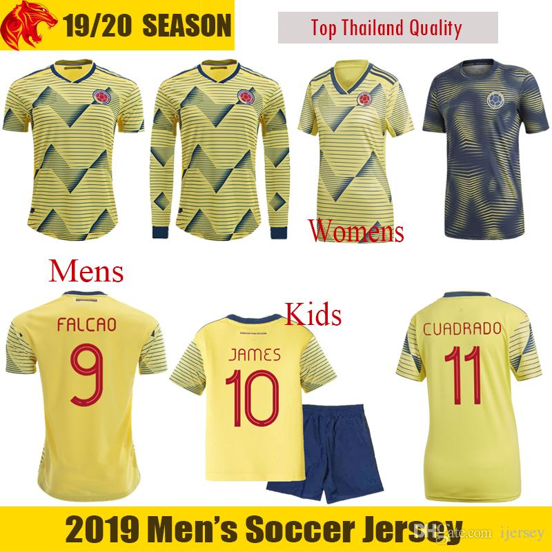 ab018487fc7 2019 2019 Colombia Soccer Jersey VALDERRAMA 19 20 JAMES Football Shirt  CUADRADO Mens Fans & Player Version Colombia Womens And Kids FALCAO Jersey  From ...