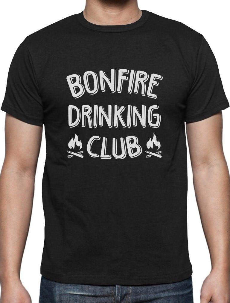 f35ee903b8 Bonfire Drinking Club Camper Gift Funny Camping T-Shirt Camping Lovers Gift  Cool Tops Men'S Short 2018 Newest Men'S Funny Top Tee