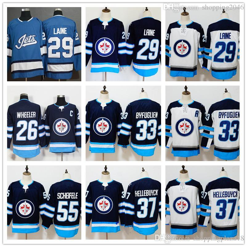 Men s Winnipeg Jets 29 Patrik Laine 37 Connor Hellebuyck 33 Dustin ... 26b16169a