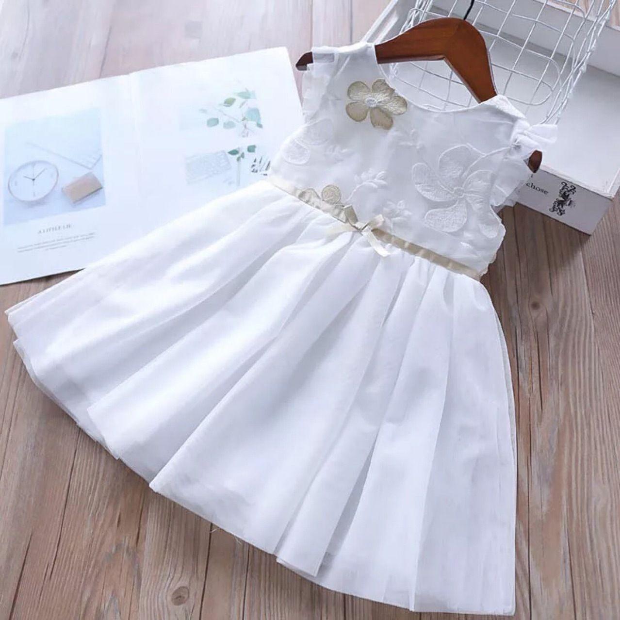 2019 Girl Embroidery Flower Dresses 2019 Summer Kids Clothing ... 1d8927dfd450