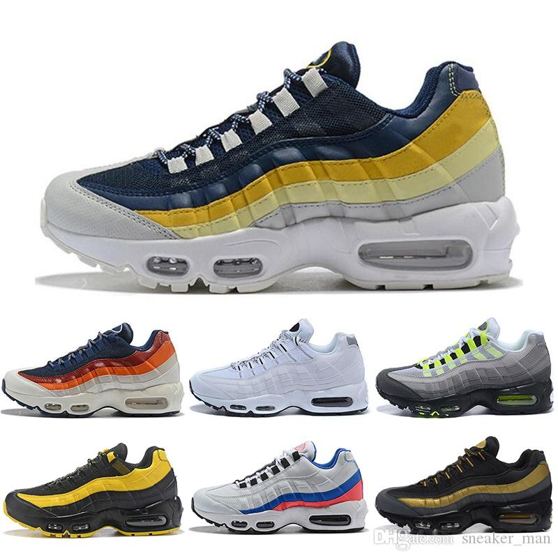 new product c6666 ace82 Cheap Designer Ultra 95 OG 20th Anniversary Mens Running Shoes 95 95s Shoes  Black Yellow Grey Mens Trainers Tennis Sneakers Size 36-45